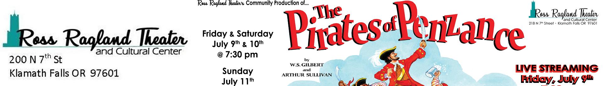 "Ross Ragland Theater presents ""The Pirates of Penzance"""