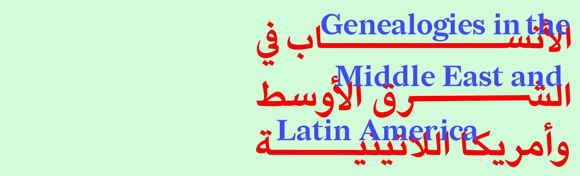 Genealogies in the Middle East and Latin America